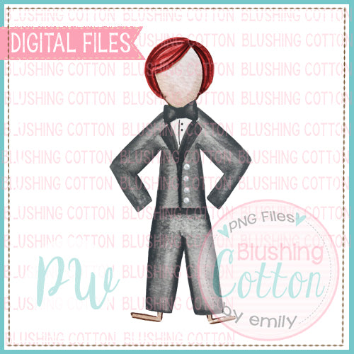 STICK FIGURE GROOM RED HAIR BCPW