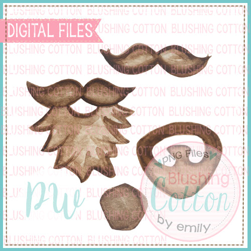 STICK FIGURE FACIAL HAIR ADD ONS DESIGN BUNDLE   BCPW