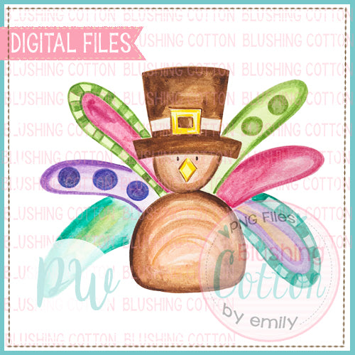 TURKEY GIRL DESIGN WATERCOLOR PNG BCPW