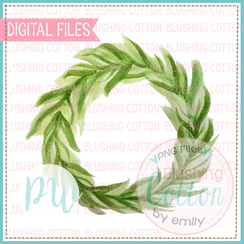 WREATH GREN DESIGN WATERCOLOR PNG BCPW