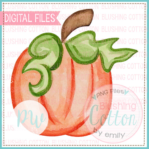 PERFECT PUMPKIN WATERCOLOR ART PNG