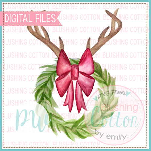WREATH WITH ANTLERS BCPW