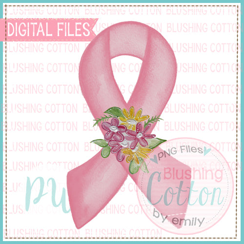 AWARENESS PINK WITH FLORAL BOUQUET BCPW