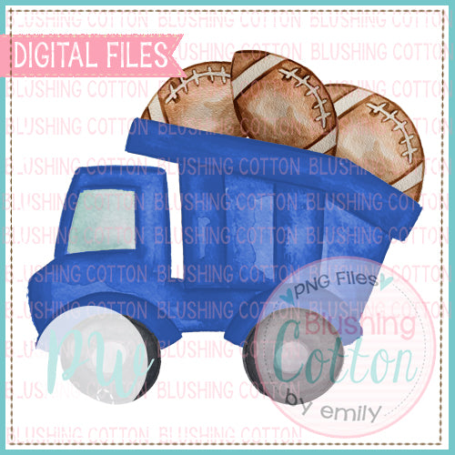 DUMP TRUCK WITH FOOTBALLS ROYAL BLUE BCPW