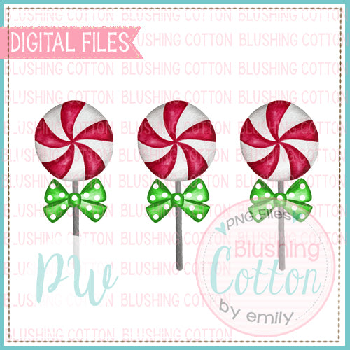 LOLLIPOP CHRISTMAS TRIO WITH BOW BCPW