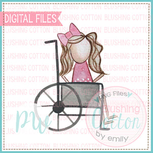 STICK FIGURE GIRL 2 IN WHEELCHAIR BROWN HAIR BCPW