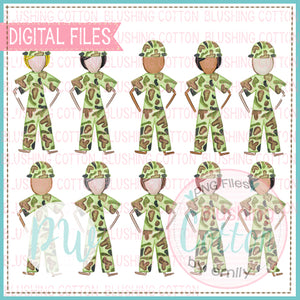 STICK FIGURE MILITARY SET BCPW