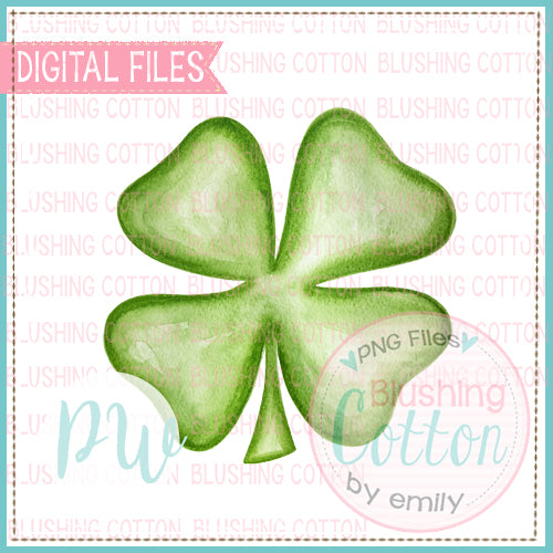 FOUR LEAF CLOVER WATERCOLOR DESIGN BCPW