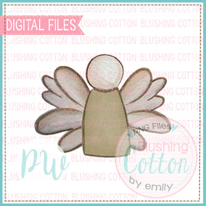 ANGEL BABY BALD NEUTRAL WATERCOLOR DESIGN BCPW