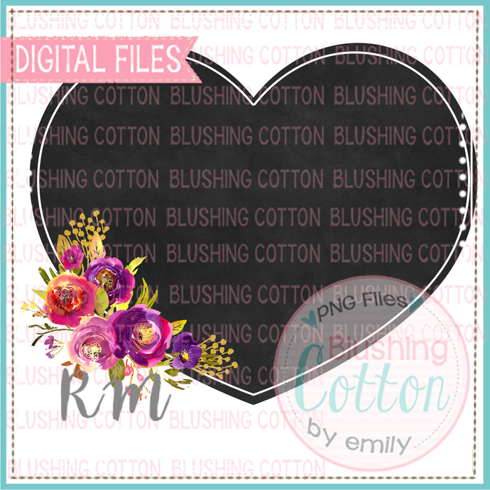 CHALKBOARD HEART WATERCOLOR DESIGN BCRM