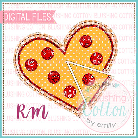 PATCHWORK PIZZA HEART PRINTABLE DESIGN BCRM
