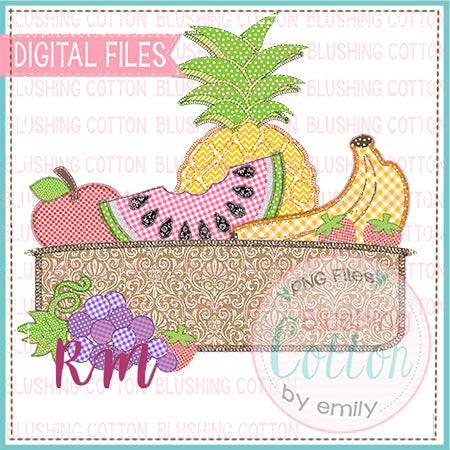 PATCHWORK FRUIT BASKET DESIGN BCRM