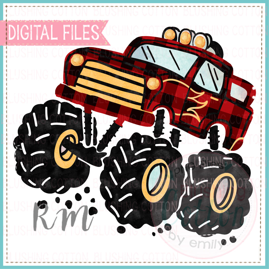 MONSTER TRUCK PLAID BCRM