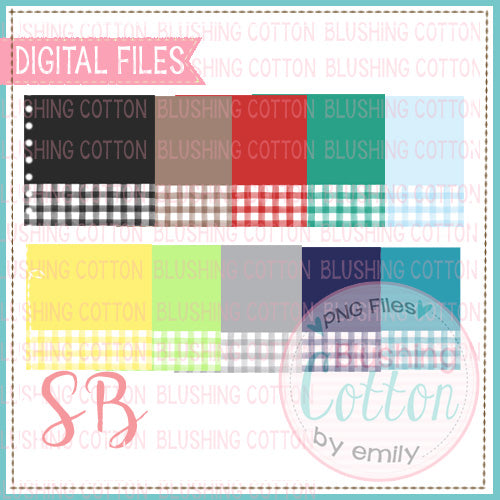 SOLID WITH CHECK NAME PLATE BACKGROUND SET 1 BCSB