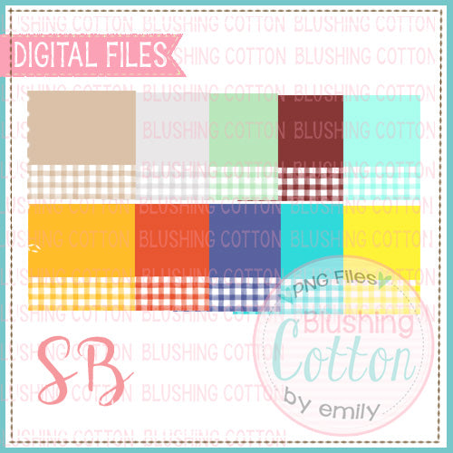 SOLID WITH CHECK NAME PLATE BACKGROUND SET 2 BCSB