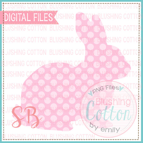 BUNNY PINK POLKA DOT WATERCOLOR DESIGN BCSB