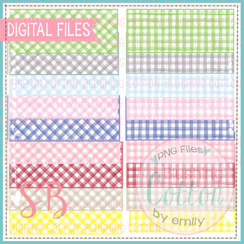 GINGHAM NAME PLATE BUNDLE DESIGN BCSB