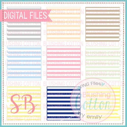 SQUARE STRIPED WATERCOLOR BACKGROUND SET  BCSB