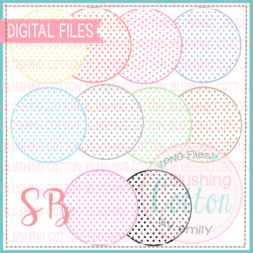 MINI DOT CIRCLE BACKGROUND BUNDLE  BCSB