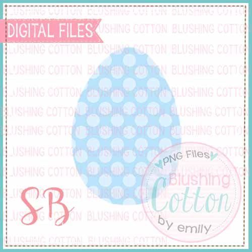 EASTER EGG BLUE POLKA DOT WATERCOLOR DESIGN BCSB