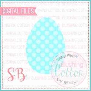 EASTER EGG TEAL POLKA DOT WATERCOLOR DESIGN BCSB