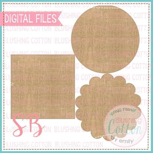 BURLAP BACKGROUND SET BCSB
