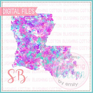 LOUISIANA SPECKLED WATERCOLOR DESIGN BCSB