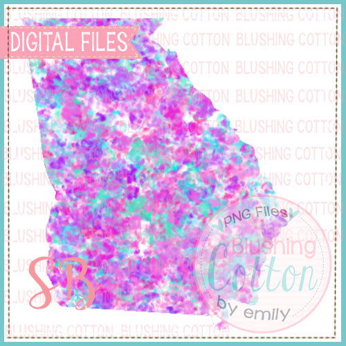 GEORGIA SPECKLED WATERCOLOR DESIGN BCSB