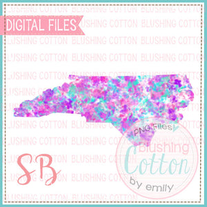 NORTH CAROLINA SPECKLED WATERCOLOR DESIGN BCSB