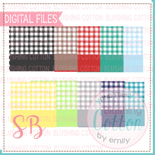 CHECKED BACKGROUND WITH NAME PLATES SET 1 SQUARE BUNDLE BCSB