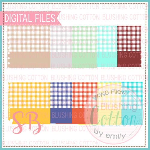 CHECKED BACKGROUND WITH NAME PLATES SET 2 SQUARE BUNDLE BCSB