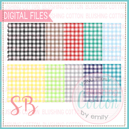 CHECKED SQUARE WATERCOLOR BACKGROUND SET 1 BCSB
