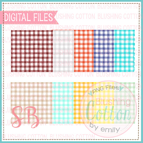 CHECKED SQUARE WATERCOLOR BACKGROUND SET 2 BCSB