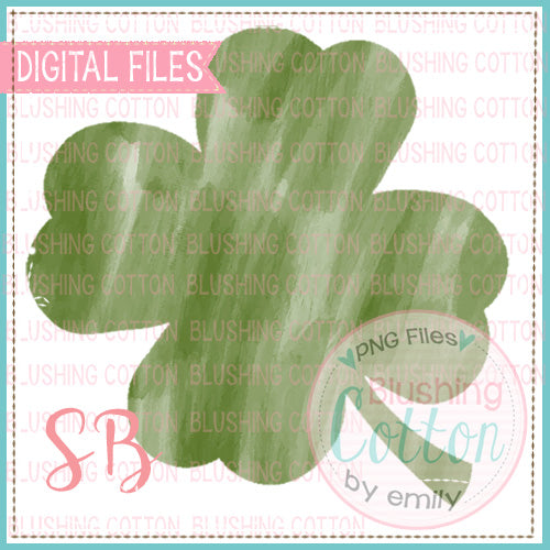 SHAMROCK 1 WATERCOLOR PNG DESIGN FOR PRINTING AND OTHER CRAFTS