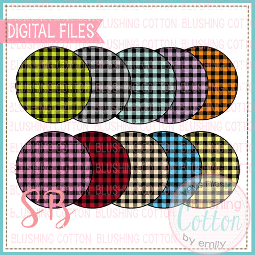 BUFFALO PLAID CIRCLE BACKGROUND SET BCSB
