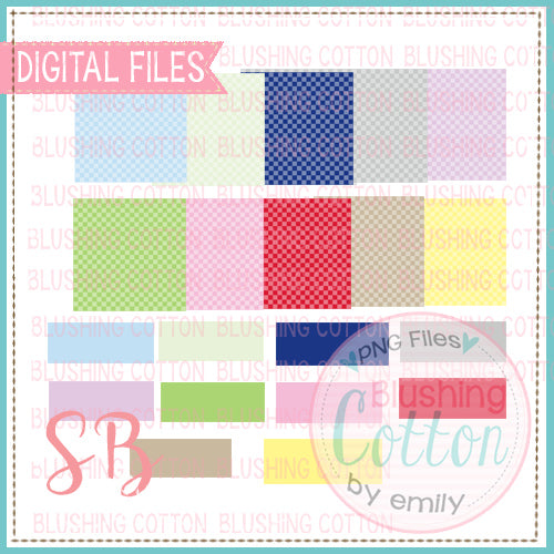 CHECKERBOARD BACKGROUND WITH NAME PLATES MIX AND MATCH SQUARE BUNDLE SET 1 BCSB