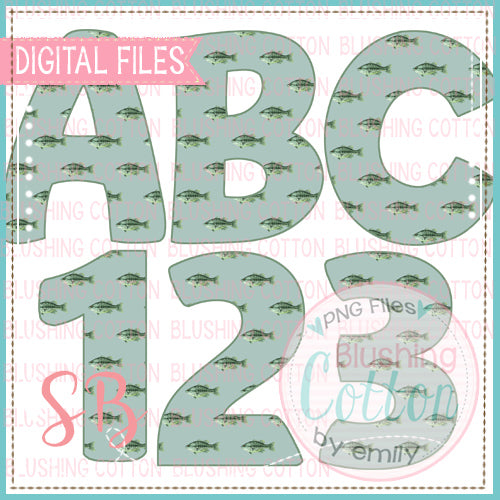 FISH ALPHA AND NUMBER BUNDLE  BCSB