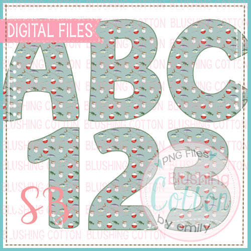 FISH COLLAGE ALPHA AND NUMBER BUNDLE  BCSB