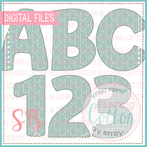 FISH HOOK ALPHA AND NUMBER BUNDLE   BCSB