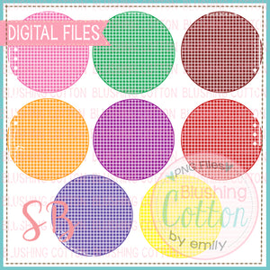MINI GINGHAM CIRCLE BACKGROUND SET   BCSB