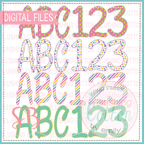 PINEAPPLE PINK ALPHA AND NUMBER BUNDLE   BCSB