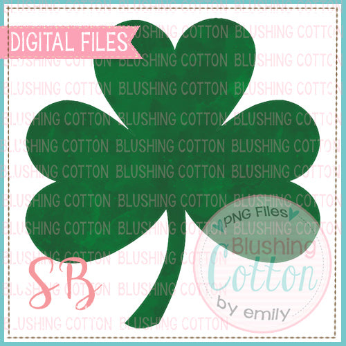 SHAMROCK 3 LEAF CLOVER GREEN WATERCOLOR   BCSB