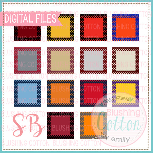 STAR FRAME WITH SOLID CENTER SQUARE BUNDLE BCSB