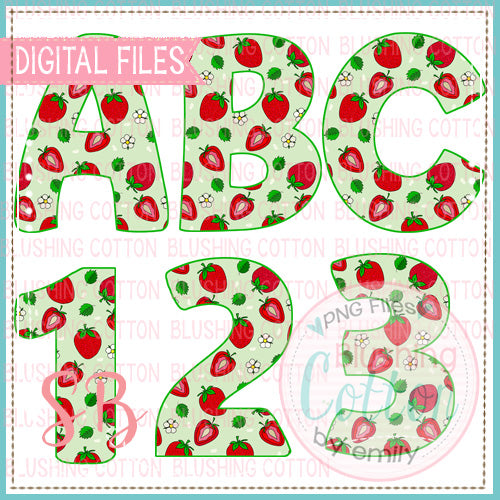STRAWBERRY ALPHA AND NUMBER BUNDLE  BCSB