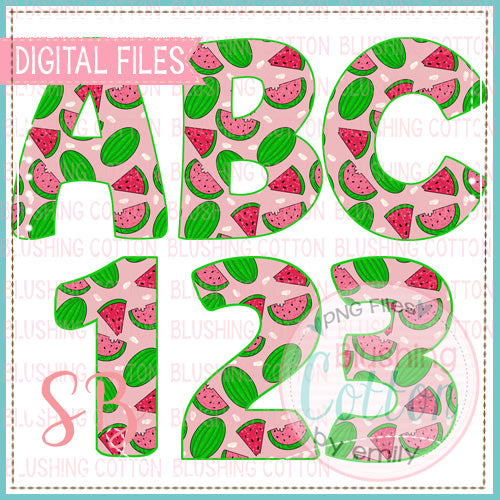 WATERMELON ALPHA AND NUMBER BUNDLE  BCSB