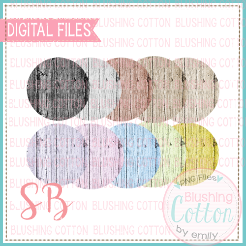 FAUX WOOD CIRCLE BACKGROUND SET 2 BCSB