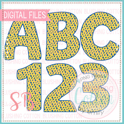 YELLOW BLUE CURL ALPHA AND NUMBER BUNDLE   BCSB