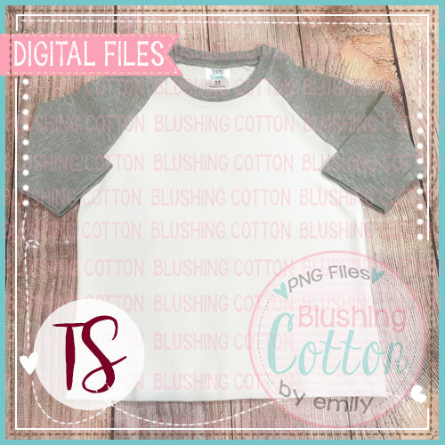 ARB GRAY RAGLAN SHIRT MOCK UP/LAYOUT FOR SHOWCASING DESIGNS YOU HAVE PURCHASED BCTS
