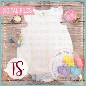 ARB WHITE CAP SLEEVE BUBBLE WITH EASTER ACCENTS LAYOUT DESIGN BCTS