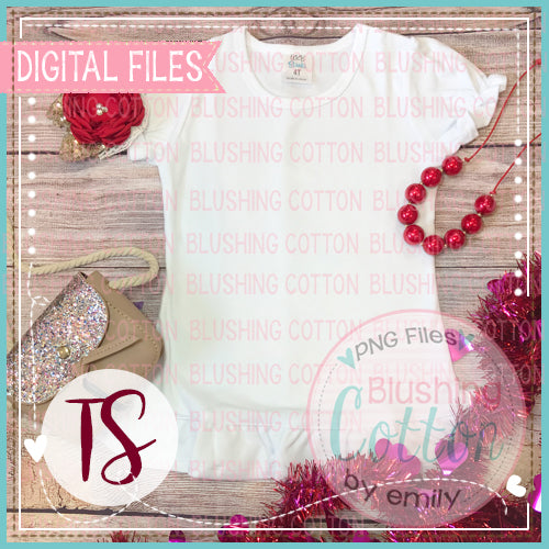ARB GIRLS RUFFLE SHORT SLEEVE TOP WITH VALENTINE ACCENTS MOCK UP LAYOUT DESIGN BCTS